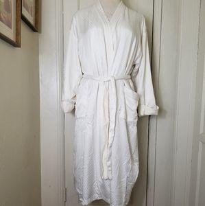 VICTORIA SECRET M/L satin terry lined robe